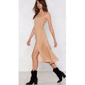 Nasty Gal What's it Dot to do with it midi Dress